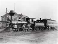 Photo of 1880 vintage train